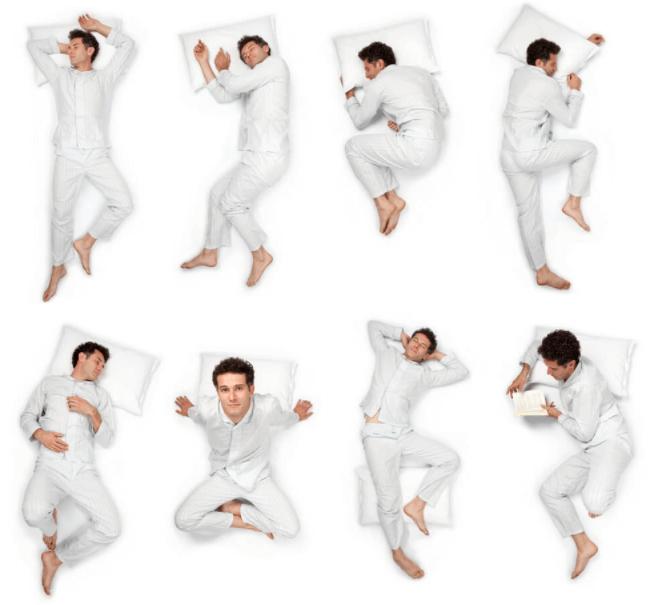 A klasszikus, boldog szerelmespár alvási pozíciója, amikor az egyik fél a.